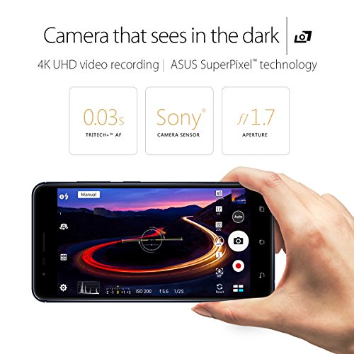 "ASUS ZenFone 3 Zoom 5.5"" 3GB RAM, 32GB Storage LTE Unlocked Dual SIM Smartphone, Android Nougat 7.1"