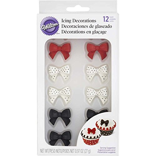 Wilton 710-2217 Icing Decoration, Royal Polka Dot Bows ()