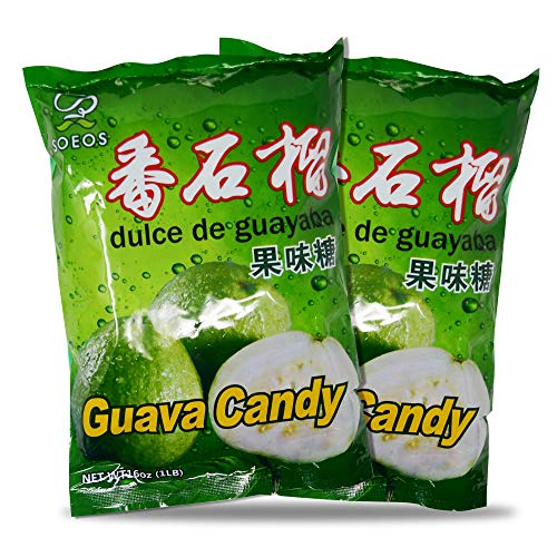 Soeos Guava Candy (32oz), Guava Hard Candy, Japanese Guava Candy, guava asian candy, guava japanese candy, Approx. 340 Pieces, 32oz (2 lbs). best to buy