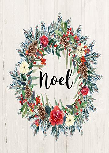 Lantern Hill Noel Wreath Christmas Garden Flag 12 x 18 inch Double Sided Decorative Banner Winter Sign Decor