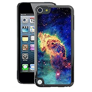 A-type Arte & diseño plástico duro Fundas Cover Cubre Hard Case Cover para Apple iPod Touch 5 (Stars Cosmos Space Blue Universe)