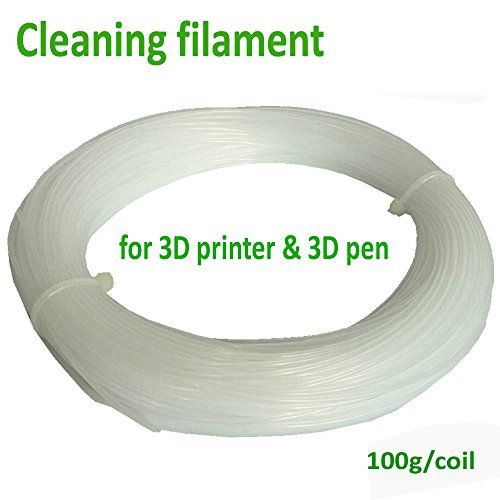 NovaMaker 1.75mm Cleaning Filament 3D Printer Filament, 0.1kg(0.22lb), Dimensional Accuracy +/- 0.05mm, Nature