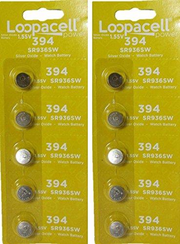 10 394 / 380 Loopacell Watch Batteries SR936W SR936SW