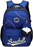 Boys Backpack, Gazigo Children Kids Baseball Backpacks For School Boy Grade 3-5
