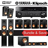 Klipsch RP-280F 7.1.2-Ch Reference Premiere Dolby Atmos Home Theater System with Yamaha AVENTAGE RX-A770BL 7.2-Ch 4K Network AV Receiver