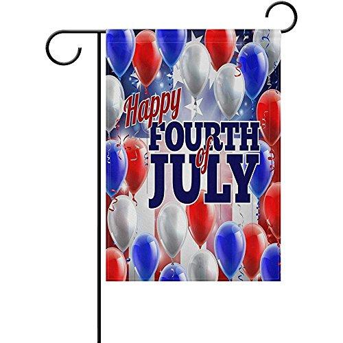 Starotor Garden Flag a Fourth of July American Flag Balloon