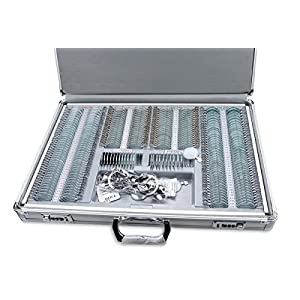 Optical 266pcs Trial Lens Set Metal Rim Optometry Box with Trial Frame and Aluminum Case