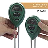 EACHPOLE |2-Pack| Garden Soil Test Kit for Indoor and Outdoor Plants Water, PH Balance, and Light Levels, 3-in1 Meter No Batteries or Charging, APL1710