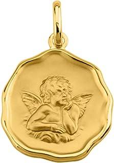 Altesse [Q3581 - Ciondolo Placcato in Oro 'Petit Ange' Dorato - 18 mm.
