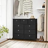 SONGMICS Storage Chest Cabinet Dresser 9 Fabric