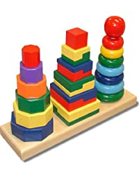 Melissa & Doug LCI567 Geometric Stacker BOBEBE Online Baby Store From New York to Miami and Los Angeles