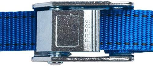 25mm幅 カムバックルベルト エンドレス 1.0m 青 10本セット