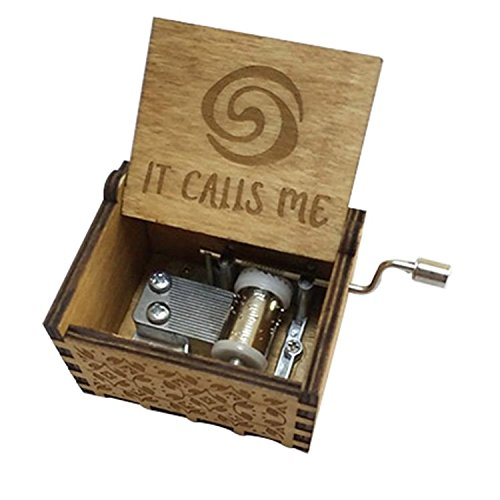 FORUSKY Antique Carved It Calls Me Hand Cranking Wood Music Box for Home Decoration,Crafts,Toys,Gift