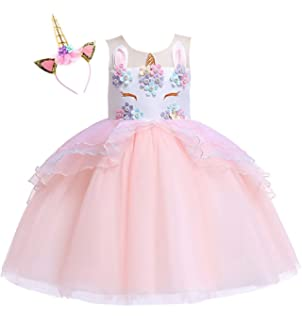Amazon.com  TTYAOVO Flower Girls Unicorn Costume Kids Pageant ... a915a995a