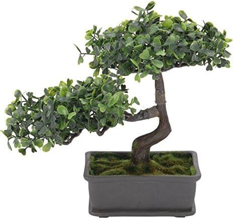 Bonsai de algodón en maceta Planta Artificial Decoración Planta de Algodón Árbol de algodón nuevo: Amazon.es: Hogar