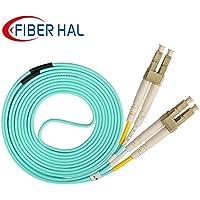 FiberHal OM3 LC to LC Multimode Duplex Fiber Optic Cable 50/125 UPC LSZH, Aqua 20m(65ft)