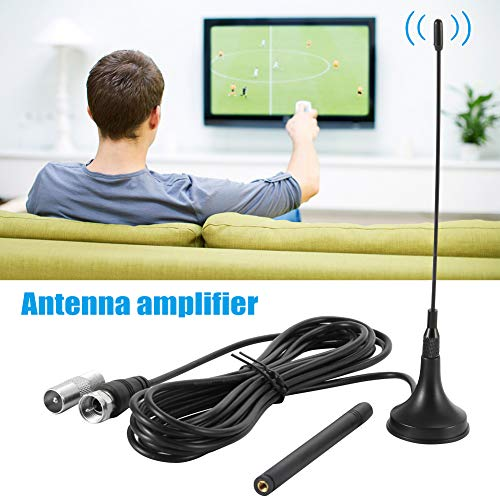 Freeview Digital Receiver - Belegend 30dBi Indoor Digital DVB-T/FM Freeview Aerial Antenna Gain Amplifier for TV HDTV