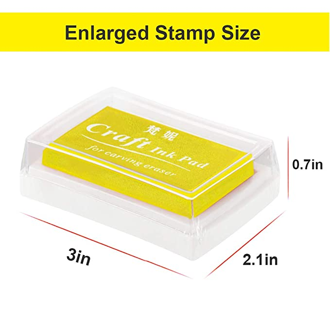 Ink Stamp Pads ANRAIN Fingerprint Pad For Kids Washable Craft Rubber Stamps Paper Scrapbooking Fabric Pack Of 12 Christmas Gift