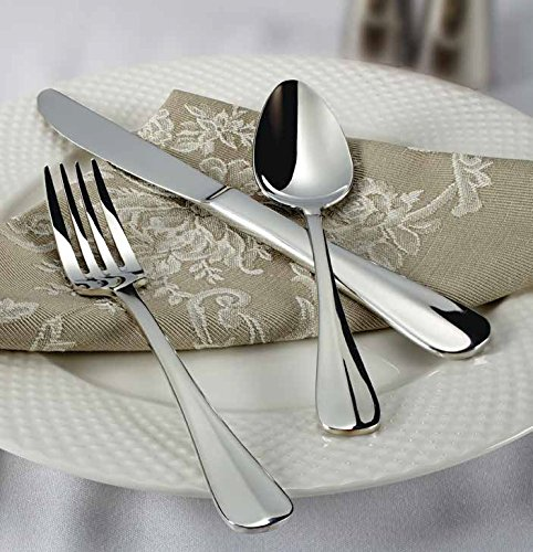 en Flatware Set, Extra Heavy 18-0 Stainless Steel Classic Old-Fashioned Dinner Spoons (Dozen Pack), Dinner Forks (Dozen Pack) and Dinner Knives (Dozen Pack), 36-Piece Set (Extra Heavy Dinner Knife)