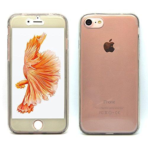 iProtect Apple iPhone 7, iPhone 8 Hülle 360° Schutz Soft Case TPU Schutzhülle Grau