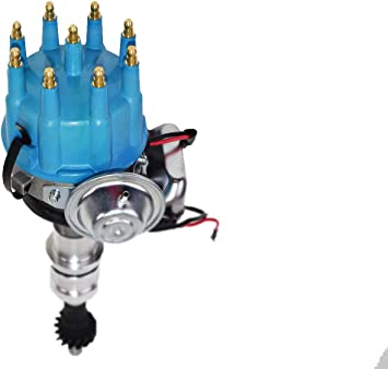 A-Team Performance HEI Complete Distributor 65K Coil Compatible with BBF Big Block Ford 351C 351M 400M 429 460 One Wire Installation Black
