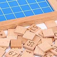 HOMYL 1-100 Wooden Montessori Mathematics Material Consecutive Numbers Sorting Toy