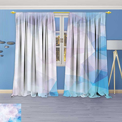 SOCOMIMI Twigs Fashion Design Print Thermal Insulated Blackout Curtain Vector Background from Polygons Background Wallpaper with Tops for Bedroom 108W x 108L inch