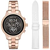 Michael Kors Access Womens Runway Touchscreen Smartwatch Stainless Steel Bracelet Leather Set watch, Rose Gold tone, MKT5060