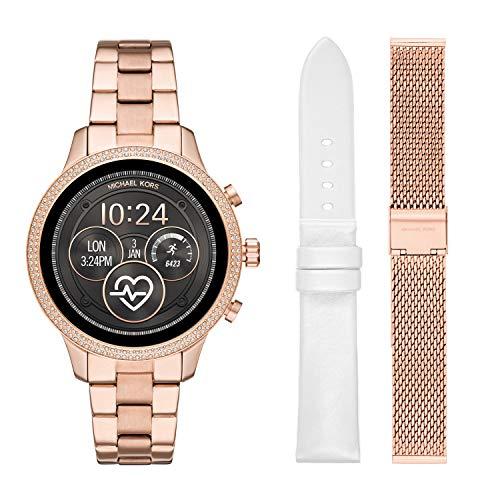 e6ad47c2ac99 Michael Kors Access Womens Runway Touchscreen Smartwatch Stainless Steel  Bracelet Leather Set watch