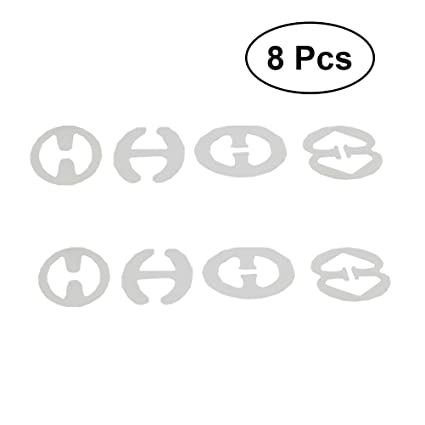 Healifty Clips de Sujetador Antideslizante Invisible para Tirantes de Sujetador 8 Piezas Transparente