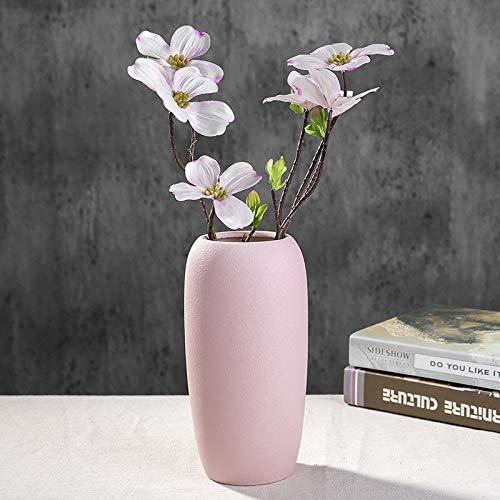 25cm Jar Home Decoration Decor Ornament AngraveHome Textured Woven Pink Glass Flower Vase