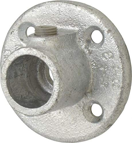 8 Pack 3//4 Inch Pipe Kee Medium Flange Malleable Iron Pipe Rail Fitting