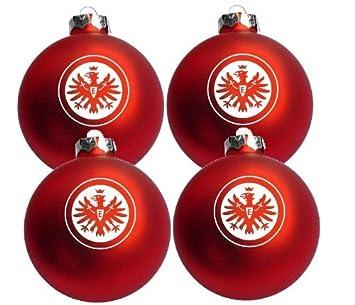 Eintracht Frankfurt Christbaumkugeln.4er Set Weihnachtskugeln Eintracht Frankfurt Neu Amazon De Sport