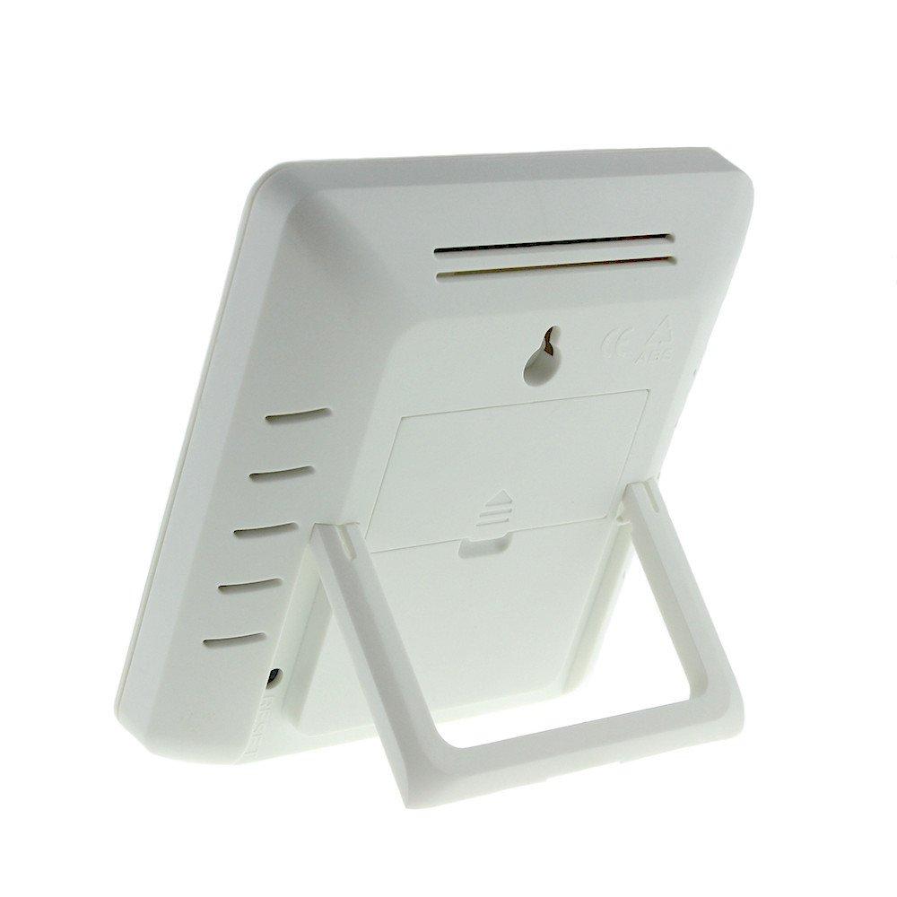 Indoor Zimmer LCD Elektronisches Temperaturfeuchtigkeitsmesser Digital Thermometer Alarm 102x93x22mm Feuchtigkeit 1/% RH Wokee digitales Thermo-Hygrometer