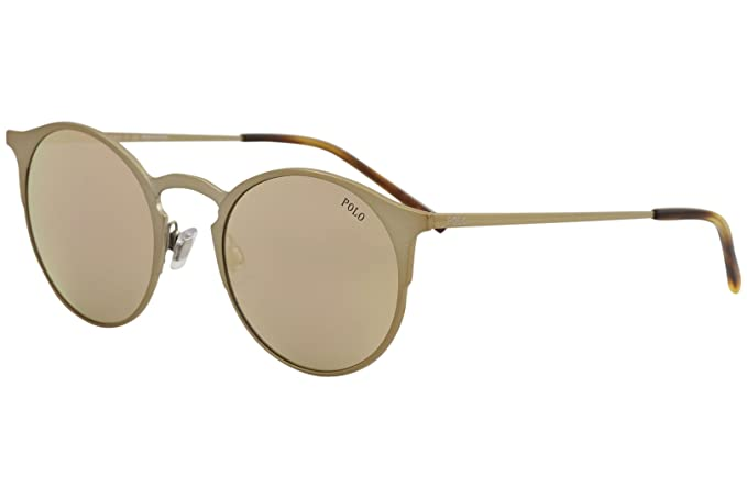 Ralph Lauren Polo 0PH3113, Gafas de Sol para Hombre, Brushed Dark Rose Gold,
