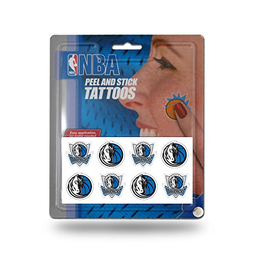 (Rico Industries NBA Dallas Mavericks Face Tattoos, 8-Piece Set)