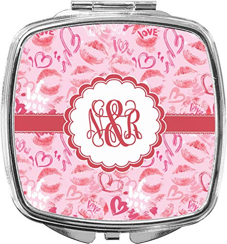 Lips n Hearts Compact Makeup Mirror (Personalized)