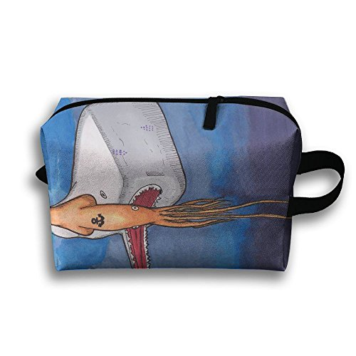 4e548c50cbe5 Leisue Sperm Whale Vs Ocean Anchor Octopus Cosmetic Bag Zipper ...