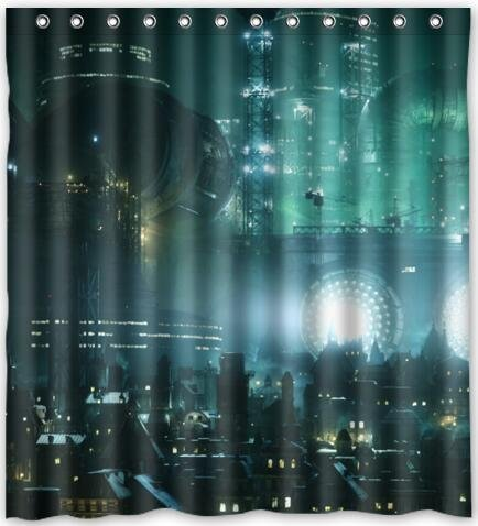 66x72 Inches Final Fantasy Shower Curtain New Waterproof Polyester Fabric Bath