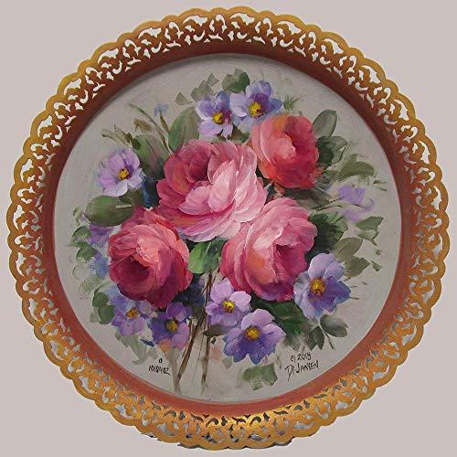 Garden Valentine Lace Edge Tray from Jansen Art Studio