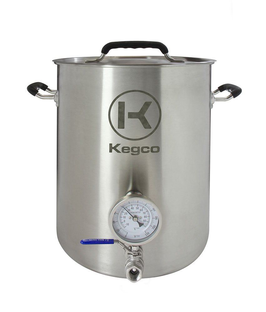 Kegco 6 Gallon Brew Kettle with Thermometer & 2-Piece Ball Valve