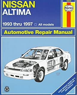 nissan altima automotive repair manual models covered all nissan rh amazon com 2000 Nissan Altima Power Steering Tank 1997 Nissan Altima Interior