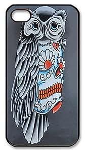 Case For HTC One M8 Cover, Case For HTC One M8 Cover -Owl Sugar Skull Polycarbonate Hard Case Back Cover Case For HTC One M8 Cover Black