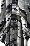 Mexican Blanket JUMBO Chief '' Gris Verde '' XXL 92x64 Handwoven Queen Throw Tribal Rug