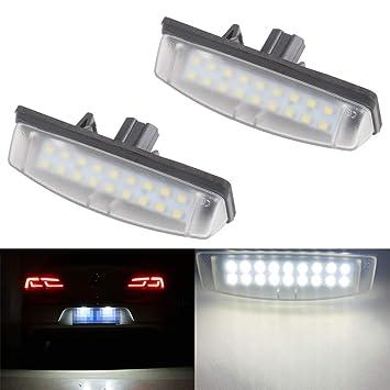 Amazon.com: 2 luces LED de xenón para coche, color blanco ...