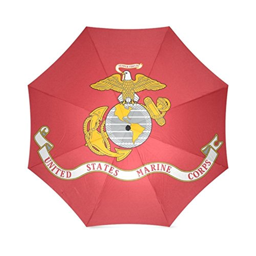 EnnE Umbrella Marine Corps Flag Folding Compact Travel Umbrella Rain Windproof Easy Carrying by EnnE