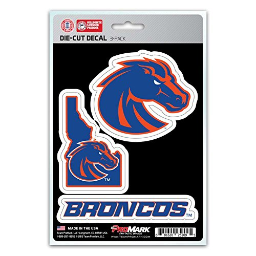 NCAA Boise State Broncos Team Decal, 3-Pack (Boise State Broncos Basketball)