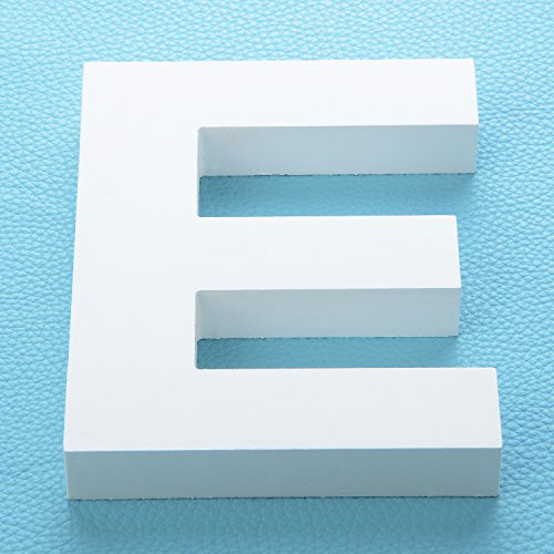 Nursery Letters White Wooden For (Takefuns Large Wall Letters Marquee Alphabet Decorative Wood Letters Hanging Wall 26 Letters Diy Block Words Sign for Children Baby Name Girls Bedroom Wedding Birthday Party Home Décor,Letter E)