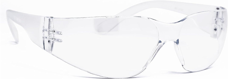 Infield Nestor Lunettes de protection, transparent, 23g seulement, Très Confortable, Très Solide, protection UV, résistant aux rayures, revêtement