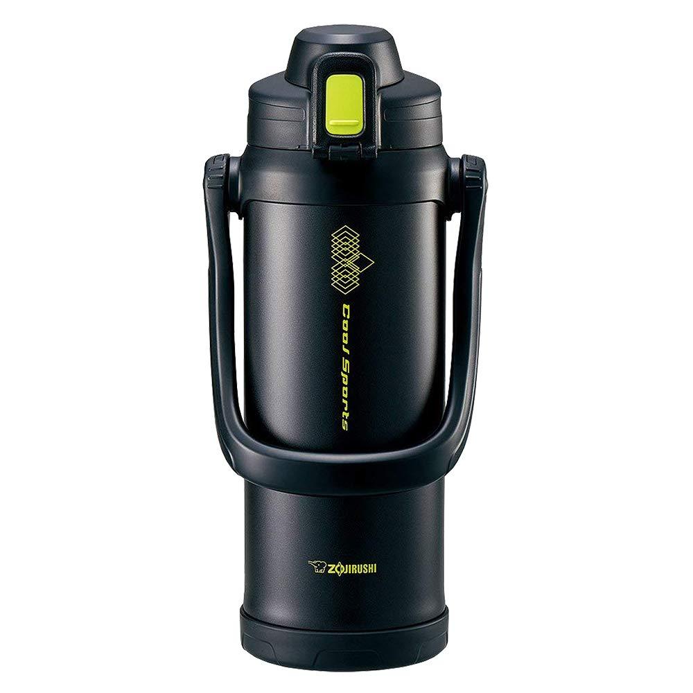 ZOJIRUSHI Stainless Steel Cool Bottle - Sports Type (2.06L Capacity) Lime Black SD-BB20-BG by Zojirushi